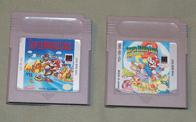 Super Mario Land 1 & 2 6 Golden Coins Nintendo Game Boy cleaned tested working
