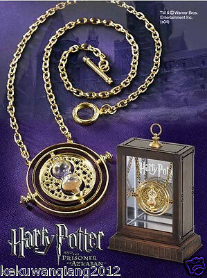 2015 Nice Gold Time Turner Hermione Granger Rotating Spins Hourglass Necklace
