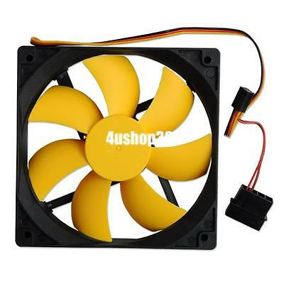 120mm 12cm pc case cooler cooling fan 12v dc pc cpu computer 3pin 4pin connector