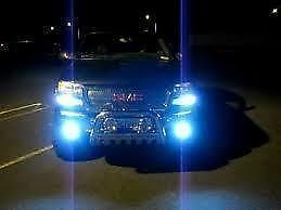 JUST PLUG IN STOCK HIGH BEAM HEADLIGHTS 1 SET 10000K REAL ULTRA BLUE H7