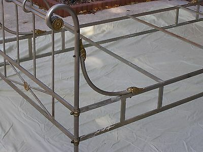 1930 Solid Nickel Twin Bed Frame