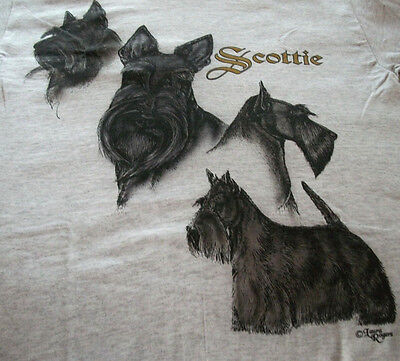 """Scottish Terrier  Lovers T-shirt   """" Natural """"  Small ( 34 - 36 )"""