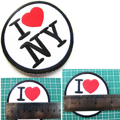 I Love New York NY City Souvenir Travel United States Embroidered Iron On Patch