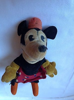 Vintage 1930s Steiff Mickey Mouse Girl Friend Minnie Mouse Open Mouth Rare W@W