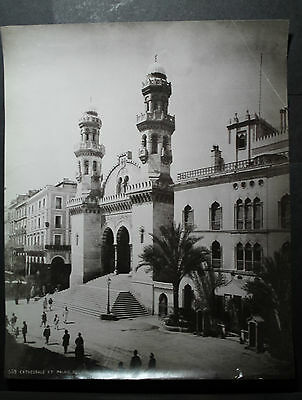 rare antique old PHOTO LEROUX KETCHAOUA MOSQUE CATHEDRAL AFRICA  ALGERIA ALGER