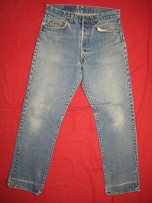 D7797 levi's 501 blue shrink to 31x30 jeans 34x33 vintage made in the U.S.A.