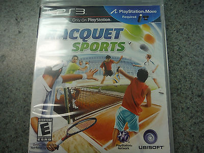 Racquet Sports  (Sony Playstation 3, 2010) FACTORY SEALED