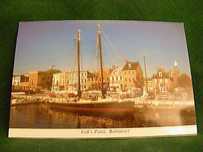 """( 1 ) Vintage 1980s? """" FELL'S POINT ~ BALTIMORE, MARYLAND """" Postcard:   NM-!!"""
