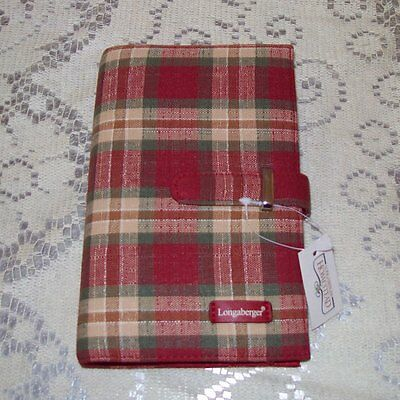 Longaberger Orchard Park Plaid FABRIC PLANNER ~ Brand New-with-Tags! ~