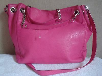 Michael Kors Shoulder Tote Cross Body Pink Foft  Leather Large Size