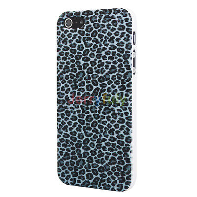 Fashion Black Leopard Design Hard Back Protector Case Cover for Apple iPhone 5
