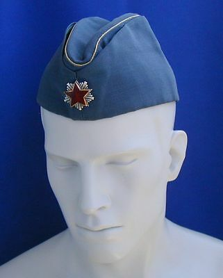YUGOSLAVIA SERBIA  JNA AIRFORCE OFFICERS FIELD CAP HAT WITH BADGE