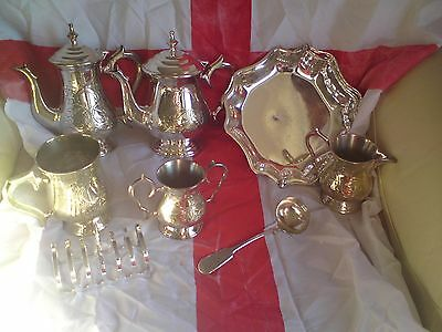 Silver Plated Tea & Coffee Set, ALL SHOWN
