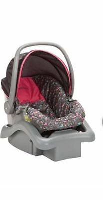 NEW Cosco Light 'n Comfy Elite Pink and Brown Infant Car Seat - Bird on a Wire