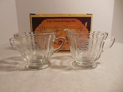 Crystal Recollections Tableware Indiana Glass Madrid Pattern Creamer Sugar Clear