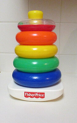 Fisher Price 5 Five Ring Rock A Stack Educational Baby Toddler Toy Gift Autism