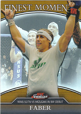 2011 Topps Finest Moments Refractor Urijah Faber 85/88