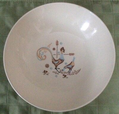 """Vintage Colorcraft Peppermint Roo Taylor Smith & Taylor 8-3/4"""" Serving Bowl USA"""