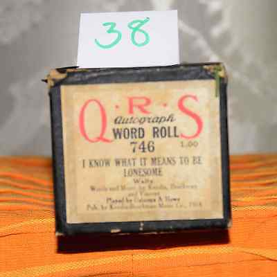"""""""Over the Waves"""" Piano Roll, QRS, #30078"""