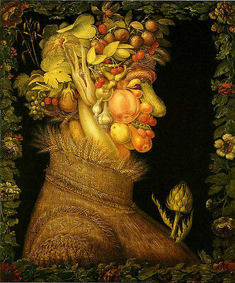 Perfect Oil panting Giuseppe Arcimboldo - The Summer man with fruits beautiful