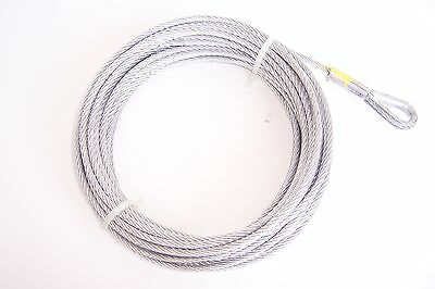 """3/16"""" x 50 ft ATV and Boat Galvanized Wire Rope Winch Cable"""