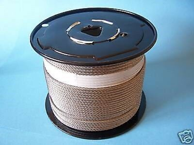 304 Stainless Steel Wire Rope Cable, 5/32, 7x19, 500 ft reel