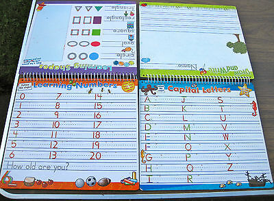 Educational Wipe Board with Letters, Numbers, Shapes and Writing