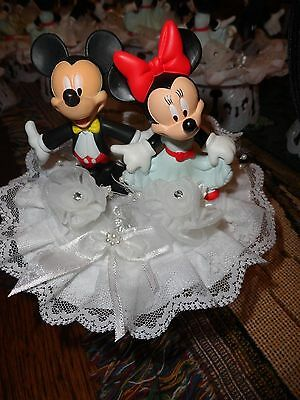 Disney Characters Mickey & Minnie Mouse Cake topper (One of a kind hand made(a)