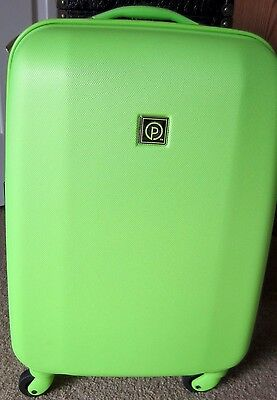 "NEW Protege 20"" Bright Hardside Upright Spinner LIME GREEN TRAVEL LUGGAGE WHEELS"