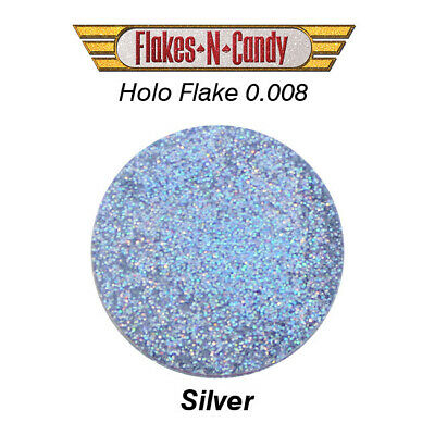Metal Flake Hologram Flake Glitter (0.008) Custom Paint Flakes 30G Hologram Silv