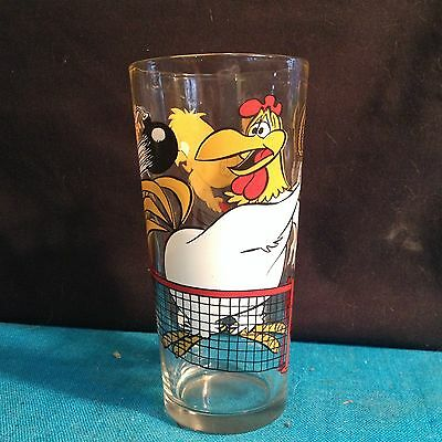 RARE WARNER BROTHERS FOGHORN LEGHORN AND & HENRY PEPSI 1976 COLLECTORS GLASS