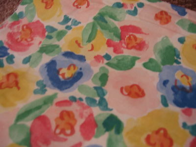 Bloomcraft Screen Print Upholstery - Drapery - Pillow - Craft - Floral Fabric