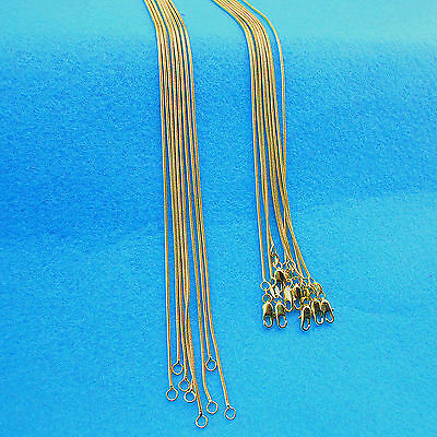 """22"""" 5PCS Wholesale Fashion Making Jewelry 18K Gold Filled Snake Necklaces Chains"""