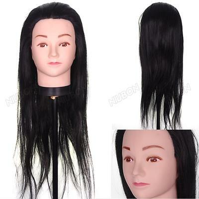 Synthetic Hair Cosmetology Salon Training Head Practice Mannequin + Free Clamp