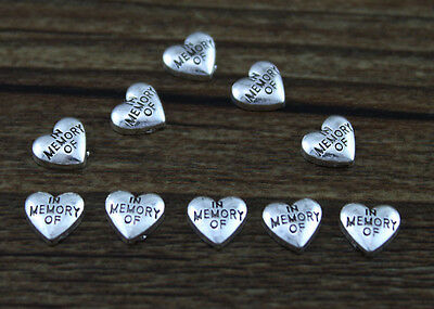 hot 10pcs IN MEMORY OF Floating Charms for Glass Memory Locket necklace e13