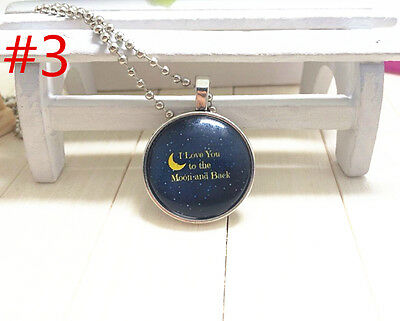 """Handmade""""I LOVE YOU""""metal/glass necklace gift for family.lovers chain 17''#BB3"""