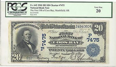 1902 $20 Date Back First National Bank of Coos Bay, Marshfield, Oregon PCGS 20
