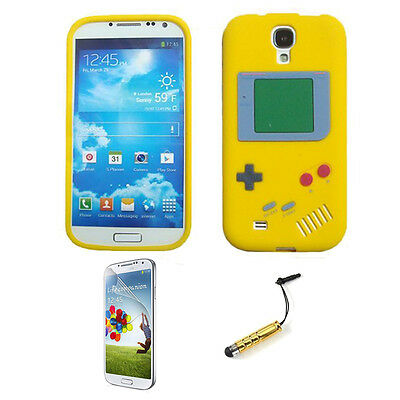 Game Boy Silicone Case Cover Skin and Gifts for Samsung Galaxy S4 i9500 Yellow