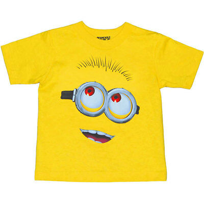Despicable Me Minion Face Toddler T-Shirt New