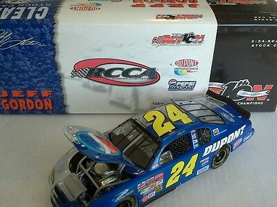 RARE! RCCA 2002 JEFF GORDON #24 PEPSI DUPONT TALLADEGA CLEAR SPLIT CAR