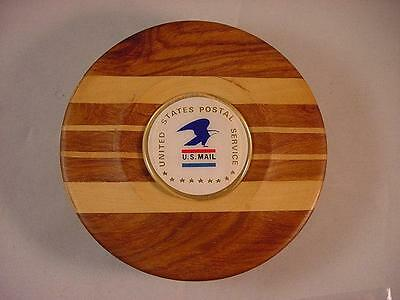 USPS US POSTAL SERVICE TRAVEL ROUND PEGGED HAND CARVED WOOD CHESS SET NEW