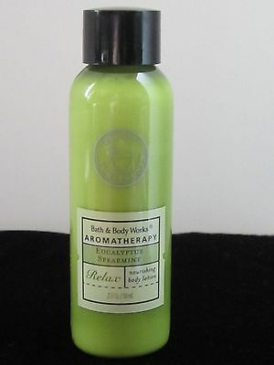 Bath&Body Works Aromatherapy EUCALYPTUS SPEARMINT Body Lotion 2OZ/59ML Women NEW