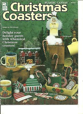 Christmas Coasters in plastic canvas pattern booklet