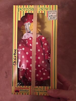 COLLECTIBE Vintage Woolworth Porcelain Clowns - Set of 3  - NIB
