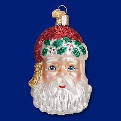 """Sinterklaas Head"" (40272) Old World Christmas Glass Ornament"