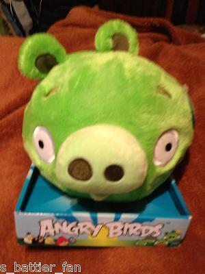 """Official Angry Birds GREEN PIG Plush Doll Toy Figure 8"""" with box and tag. NEW!!"""
