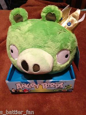 """Official Angry Birds KING PIG Plush Doll Toy Figure 8"""" with box and tag. NEW!!"""