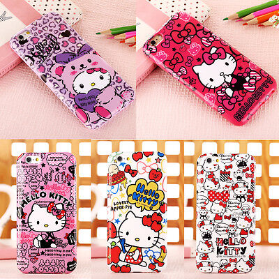 New Arrival Cute Cartoon Hello Kitty Soft TPU Case Cover for iPhone 6 6Plus