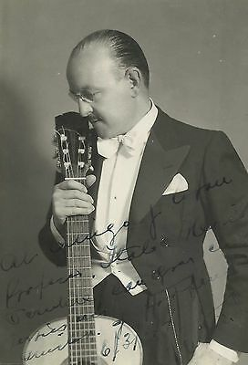 HUMBERTO FIORE Argentine Guitar Player Original Vintage HANDSIGNED Photo 1944
