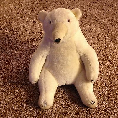 Vintage 1979 Polo Russ Berrie & Co White Bear Stuffed Animal 16 Inches